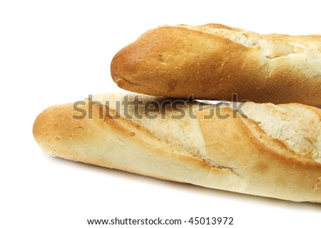 isolated cuban bread on a white background