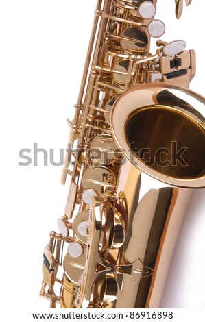 Isolated Saxophone detail