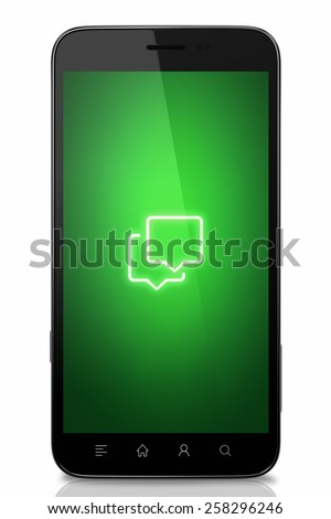 Isolated smart phone icon concept - stock photo