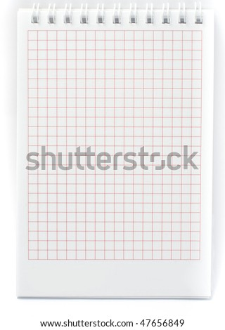 Isolated spiral notepad with clipping path