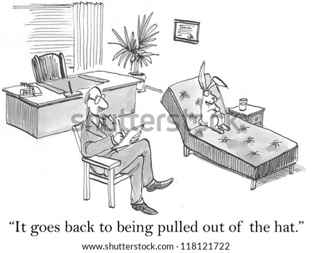 """""""It goes back to being pulled out of the hat."""" - stock photo"""