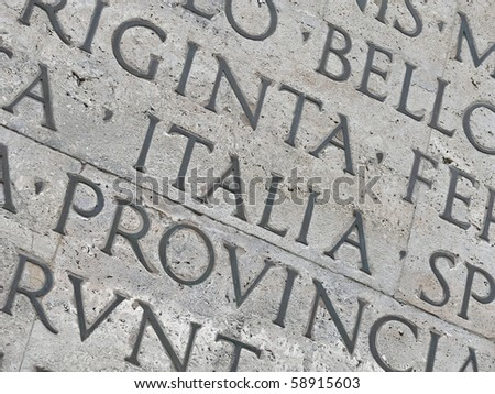 'Italia' inscription on a historical mausoleum in Rome. Good for backgrounds. More of this motif & more Rome in my port.
