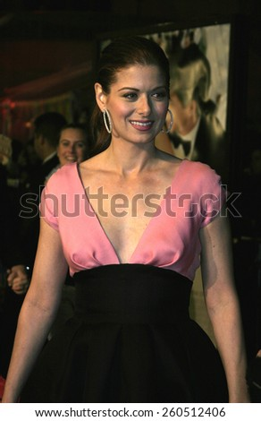 27 January 2005 - Hollywood, California - Debra Messing. The world premiere of 'The Wedding Date' at Universal Studios Cinema in Universal Studios Hollywood.  - stock photo