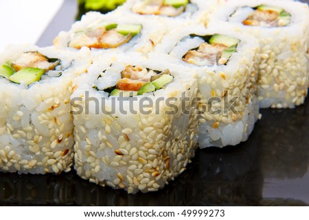 japan trditional food - roll - stock photo