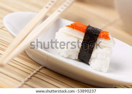 japanese sushi on placemats
