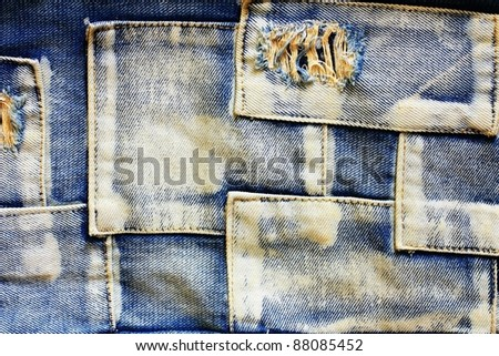 jeans cloth background. - stock photo