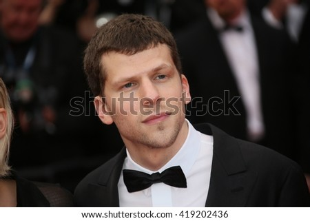 Jesse Adam Eisenberg attends the 'Cafe Society' premiere and the Opening Night Gala during the 69th Cannes Film Festival at the Palais des Festivals on May 11, 2016 in Cannes, France. - stock photo