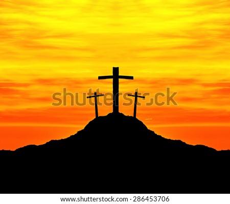 jesus cross bible - stock photo