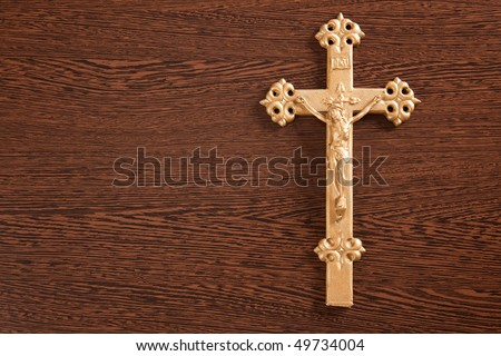 Jesus crucified on the cross - stock photo