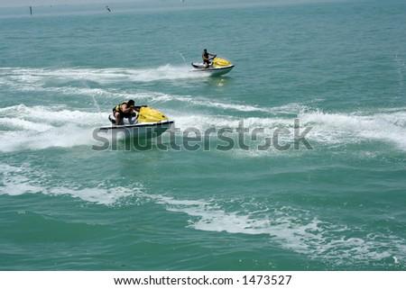 Jet Ski  sport at Kuwait - stock photo