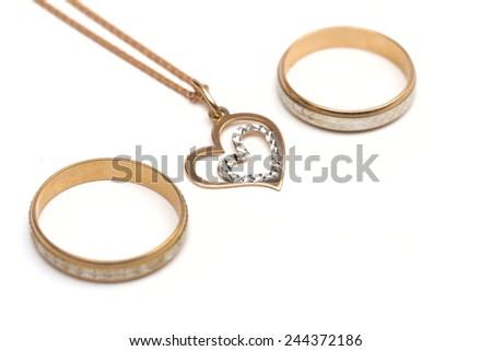 jewel on the white background - stock photo