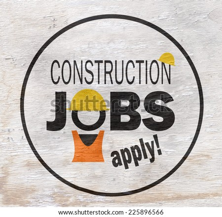 jobs sign on wood grain texture - stock photo