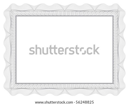 (jpg) Certificate of Completion Template; (a vector with sample text is also available) - stock photo