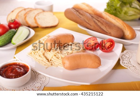 Juicy meat dish on a natural background. - stock photo
