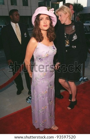 "29JUL98: Actress SALMA HAYEK at the world premiere, in Los Angeles, of ""Ever After,"" which stars Drew Barrymore."