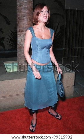 "19JUL99: Actress TORI SPELLING at premiere of her new movie ""Trick"" at the Egyptain Theatre, Hollywood.  Paul Smith / Featureflash - stock photo"