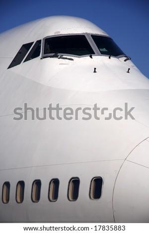 747 Jumbo jet - stock photo