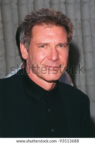 """08JUN98:  Actor HARRISON FORD at premiere of his new movie, """"Six Days, Seven Nights"""" in which he stars with Anne Heche. - stock photo"""