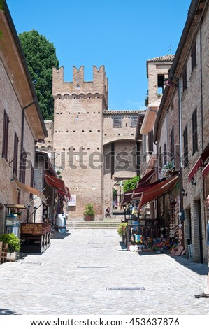 10 june 2016-gradara-italy-the walls of the beautiful city of gradara ,italy
