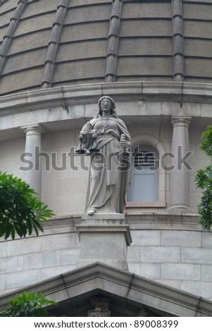 justice of Hong Kong - stock photo