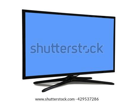 4k monitor isolated on white.  - stock photo
