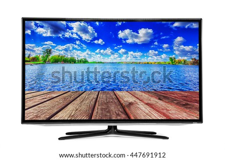 4k monitor isolated on white