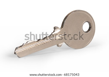 """key of door lock with white bottom   "" - stock photo"