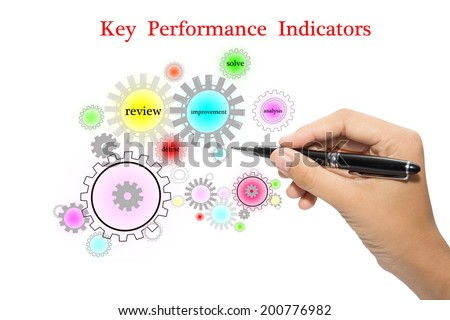 Key Performance Indicators Chart - stock photo