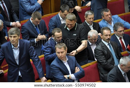 Kyiv - Ukraine - April 14, 2016. During a plenary session of the Verkhovna Rada divide in Ukraine