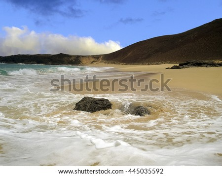 La Graciosa island, Canary Islands, Spain on a sunny afternoon - stock photo