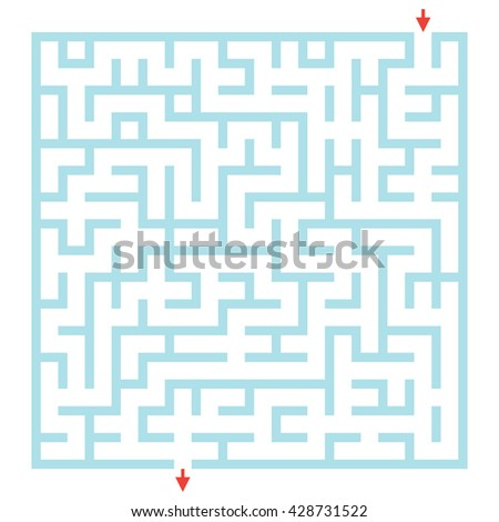 Labyrinth for preschool children. Rebus or quiz for school. Funny maze game for kids. Visual game for Preschool Children