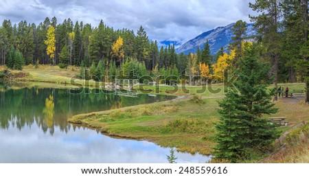 Lake, Alberta, Canada - stock photo