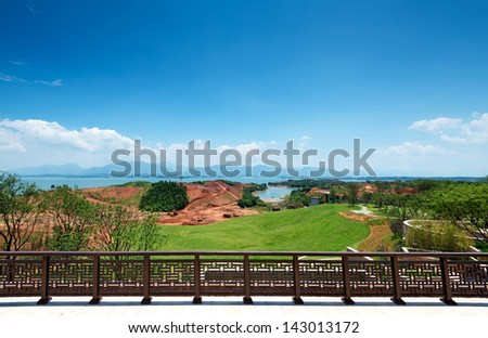 lake in park - stock photo