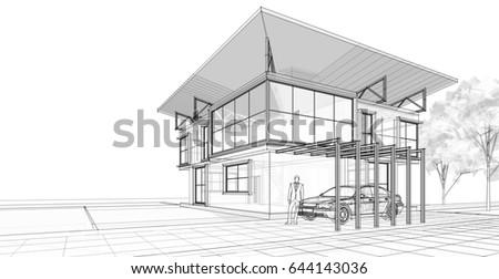Landscape Abstract Architecture 3d Illustration