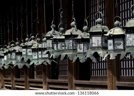 Lanterns at Kasuga Taisha Shrine, Nara, Japan - stock photo