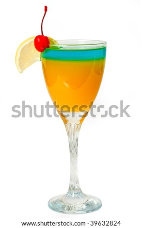 2 layered cocktail - stock photo