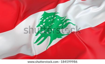 Lebanon Flag - stock photo