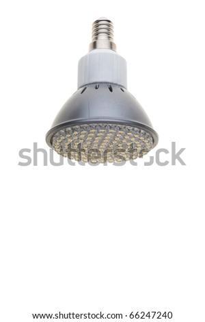 LED light bulb isolated of white - stock photo