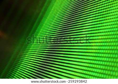 LED SMD screen green background - stock photo