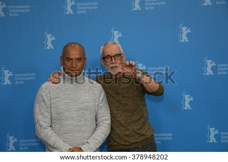 Lee Tamahori, Temuera Morrison attends the 'The Patriarch' (Mahana) photo call during the 66th Berlinale Film Festival Berlin at Grand Hyatt Hotel on February 13, 2016 in Berlin, Germany. - stock photo