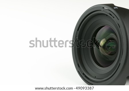 lens reflections with copy space - stock photo