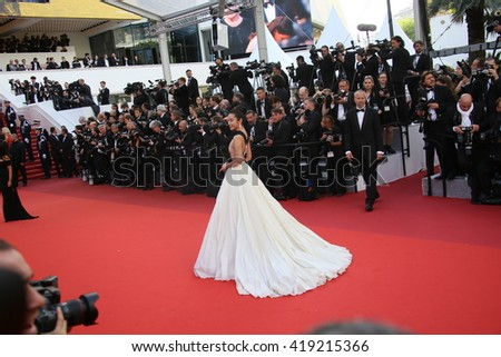 Li Bingbing attends the 'Cafe Society' premiere and the Opening Night Gala during the 69th Cannes Film Festival at the Palais des Festivals on May 11, 2016 in Cannes, France. - stock photo