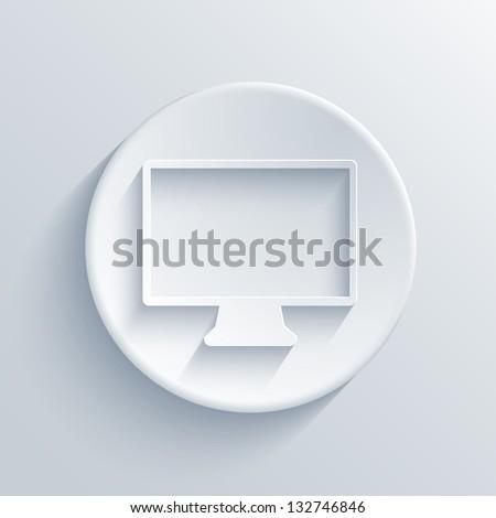 light circle icon. - stock photo
