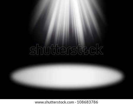 light rays on the black background - stock photo
