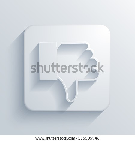 light square icon. - stock photo