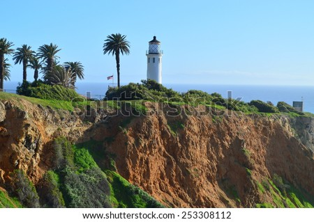 Lighthouse of Point Vicente in Rancho Palos Verdes, California.