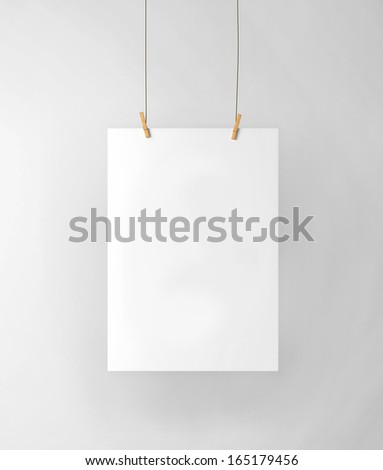 ?lip-on white paper in the interior - stock photo