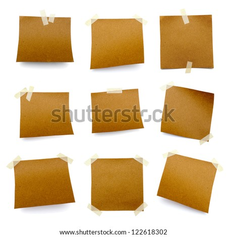 little pieces of paper on a white background in high definition - stock photo