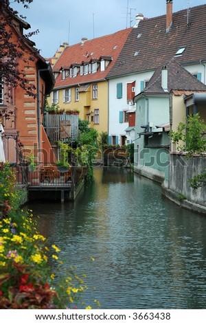 """Little Venice"" in Colmar, France - stock photo"