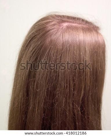 Long straight hair - stock photo